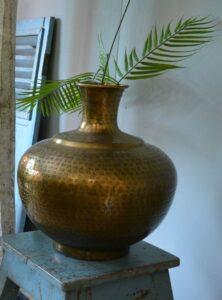 Vaas deco antiek brons