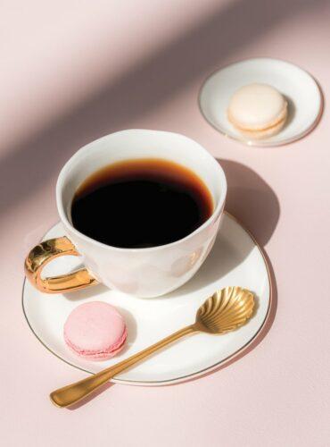 good morning mug white