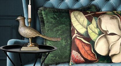 trendy kussens met stijlvolle prints