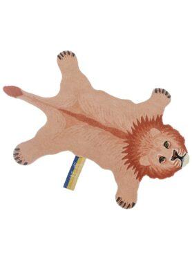 Doing goods vloerkleed pink leeuw