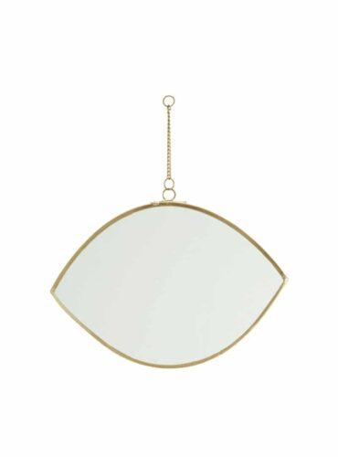 Spiegel maan brass 20 cm