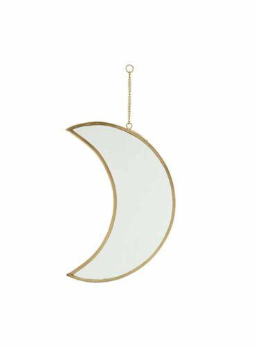 Spiegel maan brass 20 cm5