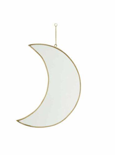 Spiegel maan brass 30 cm2