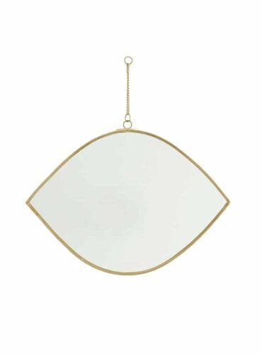 Spiegel oog brass met ketting 26 cm4