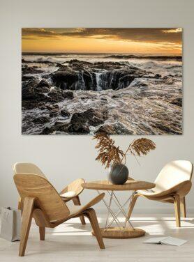 Alu Art schilderij Thors Well - blue hole in de zee
