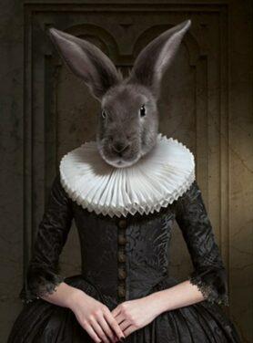 Alu art koninklijk konijn schilderij