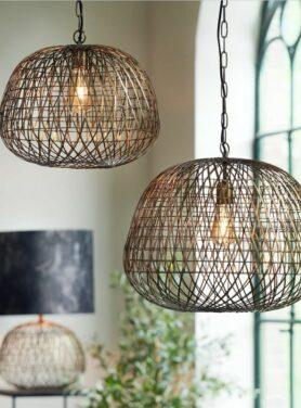Hanglamp antiek brons