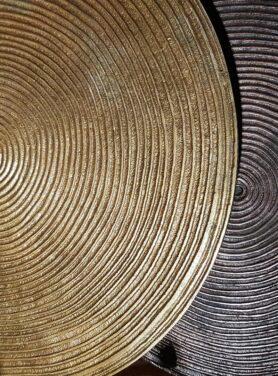 Salontafel set antiek brons - koper