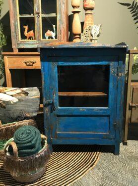 Vitrinekast blauw