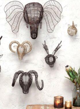 Wanddecoratie metaal sfeer4