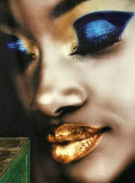 Wanddoek Lady make-up