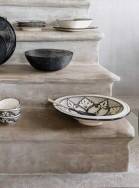 Serveerschaal stoneware haqima