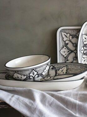 schaal stoneware ovaal haqima