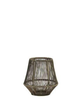 Windlicht metaal brons S1