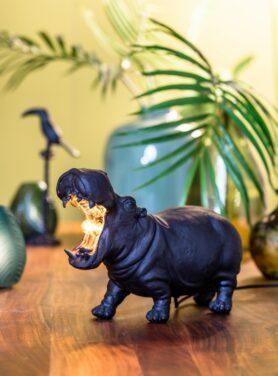 Tafellamp-hippo-mat-zwart