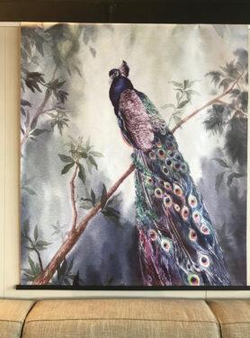 Wandkleed peacock1