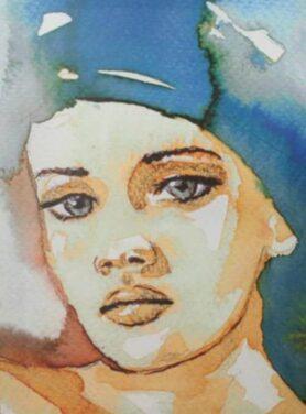 schilderij-lady-blue-3