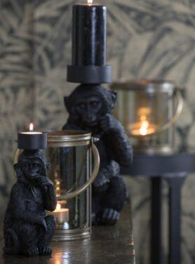 theelichthouder-zwarte-aap