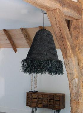 Hanglamp-raffia-zwart-mojo-3