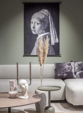Wandkleed lady pearl grey
