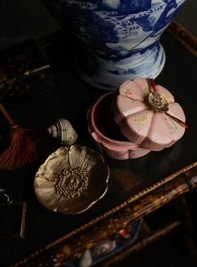 poppy vanity bloemen doosje