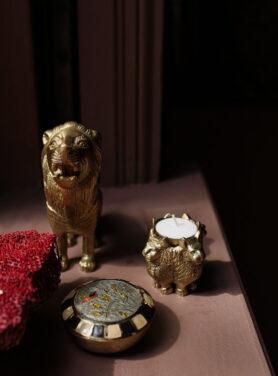 senna lion theelichthouder