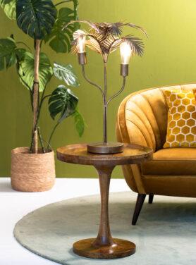 Tafellamp Palm Antiek Brons 6