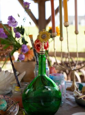 Sunny Sunflower Flessenstopper 2