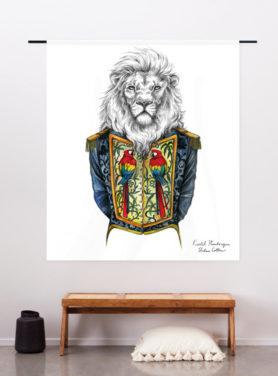 wandkleed koninklijke leeuw
