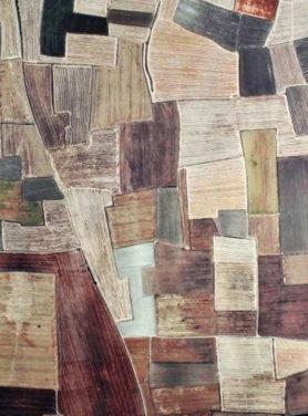 Wandkleed Blocks bruin