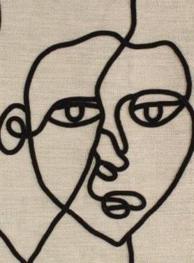 Wandkleed Face Lines 2