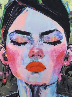 Wandkleed Woman Art Mix 2