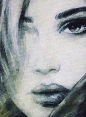 Wandkleed Woman Face